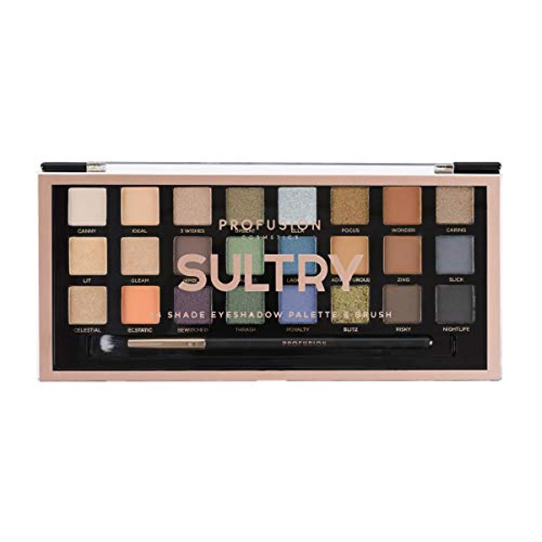 パターン検体仲間、同僚PROFUSION Sultry 24 Shade Eyeshadow Palette & Brush (並行輸入品)