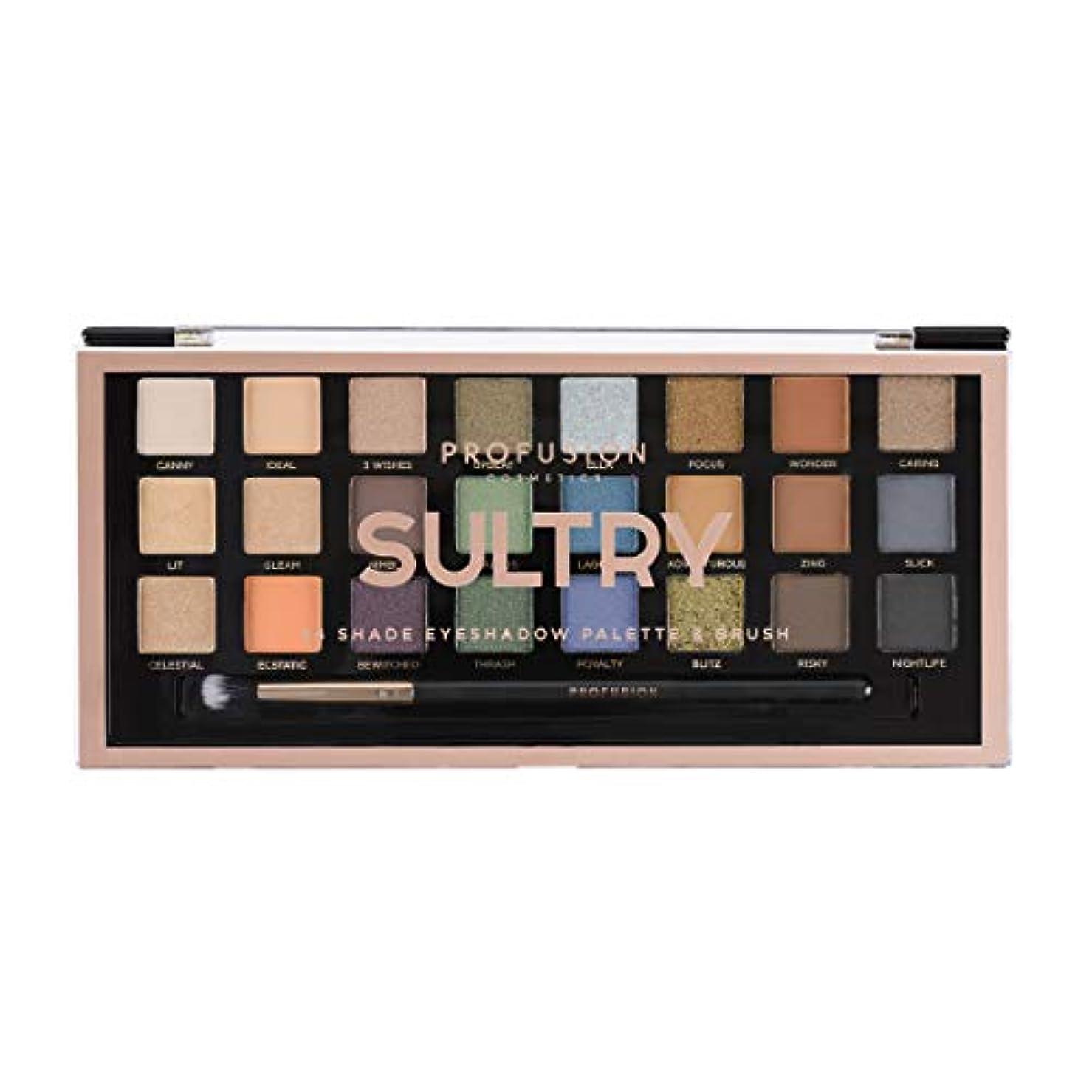 ガード堀バイソンPROFUSION Sultry 24 Shade Eyeshadow Palette & Brush (並行輸入品)