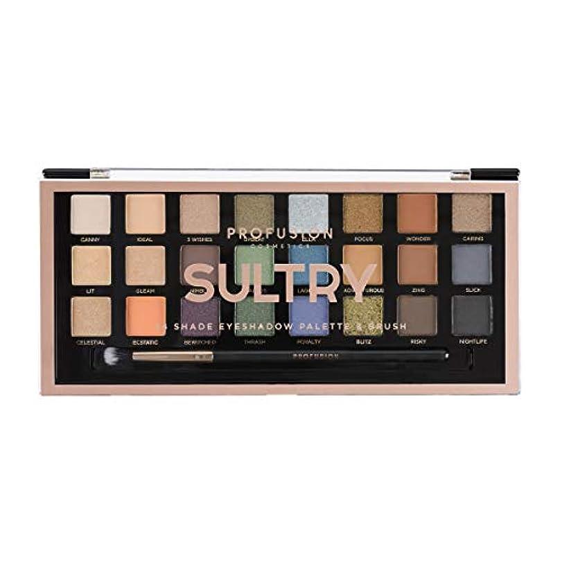 従順なアプト遅らせるPROFUSION Sultry 24 Shade Eyeshadow Palette & Brush (並行輸入品)