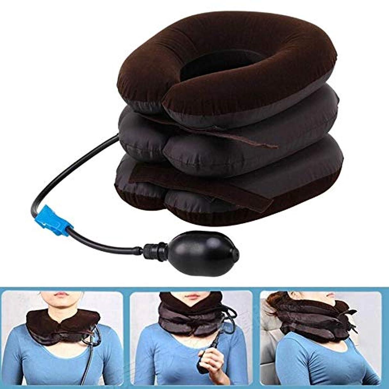 あなたが良くなります教育者欠如Langba エアーネックストレッチャー 空気充填枕 首サポーター 頚椎牽引 頸椎 首 肩こり 解消 疲労回復 3段式 ネックストレッチャー ポンプ ネックマッサージ器 家庭用/車用 両親へのプレゼント