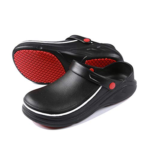 0e2f1eeccc15a [ハザコ] キッチンシューズ 厨房靴 ソフト コックシューズ メンズ 軽量作業靴 疲れない