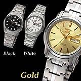 日本製セイコー5 腕時計 (ゴールド)