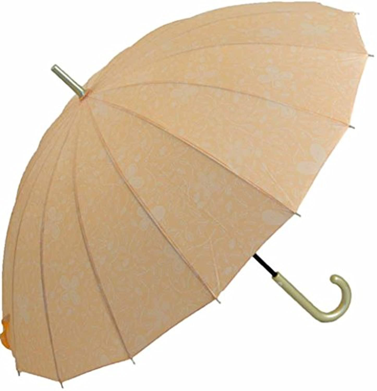 レディース 16本骨 おしゃれ ペイズリー風プリント 55cm 手開き傘