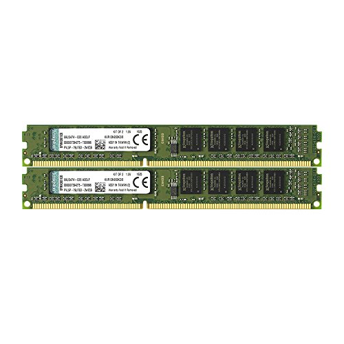 Kingston デスクトップPC用 メモリ DDR3 1333 (PC3-10600) 4GBx2枚 CL9 1.5V Non-ECC DIMM 240pin KVR13N9S8K2/8 永久保証