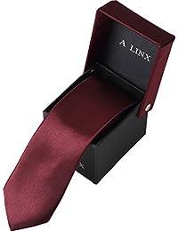 【A LINX】 12色 おしゃれ ナロータイ 収納 BOXセット 定番サイズ 紳士 ビジネス 就活 プレゼント スーツ suit カジュアル フォーマル 柄 ドット ストライプ チェック nekutai