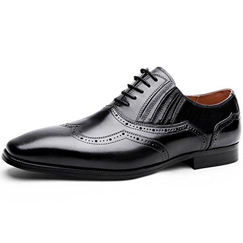 (デザート)Dessert ビジネスシューズ 紳士靴 革靴 本革 メンズ ウイングチップ 内羽根 ブラック 26CM 8088