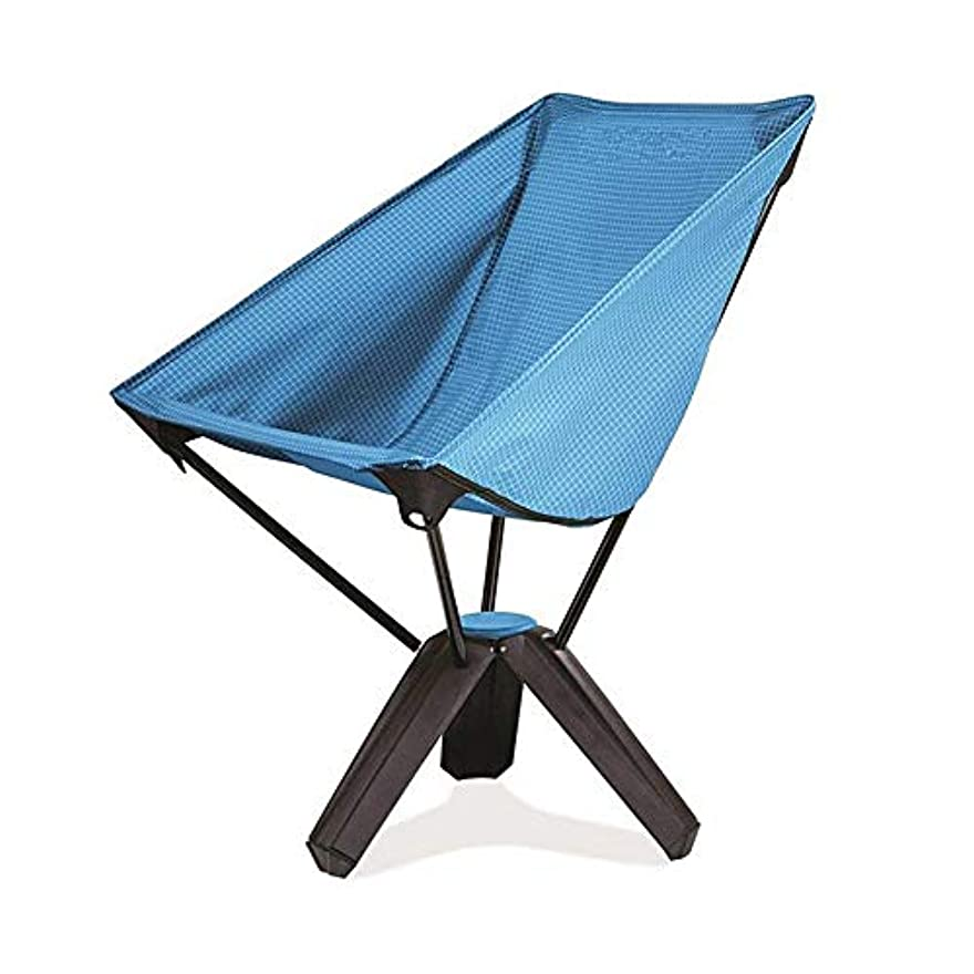 ほとんどない誓うご飯超軽量折りたたみバックパッキングチェアポータブルキャンプチェアキャリングバッグ付き釣りハイキングビーチアウトドア、スーパーコンフォート アウトドア キャンプ用 (色 : 青)