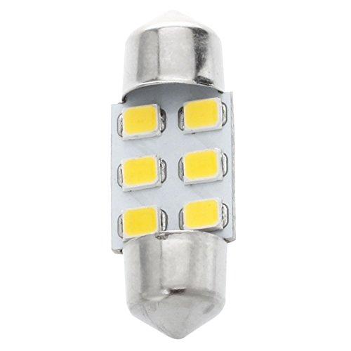 シーリングライト,SODIAL(R) 8x31mm 6 SMD LED ウォームホワイトカー内部ガー...