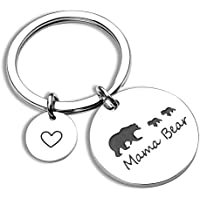 Mama Bear Keychain Cub Bear Bar Keychain Gift for Mom Grandma Wife