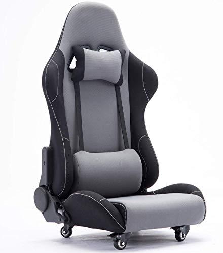 Esnato ゲーミング座椅子 150度リクライニング ハイバック ヘッドレスト クッション付き キャスター付き T-3