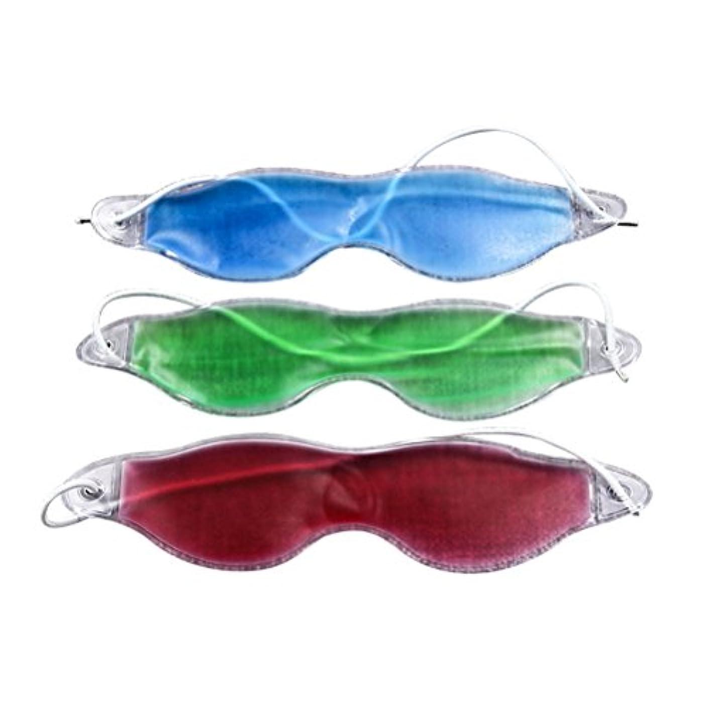 仕方雄弁粘性のSUPVOX 3ピースアイスアイマスクリラックス治療冷却ジェルコールドセラピーアイマスク用緩和ダークサークルアイパフネス飛行機旅行
