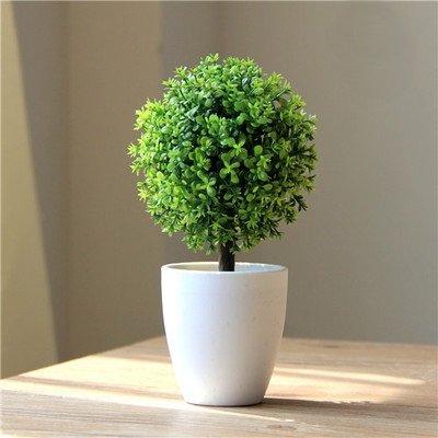 人工観葉植物 癒しのグリーン インテリア 造花 丸い かわいい ミニサイズ/ トピアリー ボール /V545