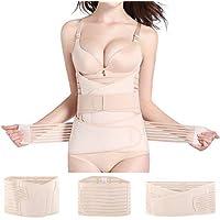 Ausale 3 in 1 Postpartum Belly Wrap Support Belt-Recovery Belly/Waist/Pelvis Belt Shapewear Nude