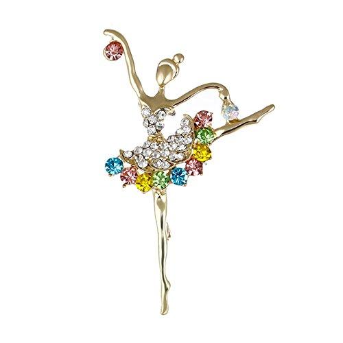 [해외]bestjp 발레 여자 크리스탈 라인 스톤 브로치 장식 의상 소품/bestjp ballet girl crystal rhinestone brooch decoration accessories for costumes