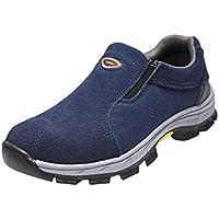 yotijar Men's Steel Toe Industrial Working Safety Shoes Hazard Protection - 5 Sizes - EU 43 US 9.5 UK 9