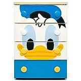 アイリスオーヤマ 収納 チェスト ディズニー ドナルド 4段 キッズ 木天板  完成品 日本製 幅56×奥行43×高さ81㎝ NHG-W554