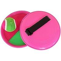 [ピンク]クラシックキッズトスとキャッチボールゲームセットキャッチボールおもちゃセット