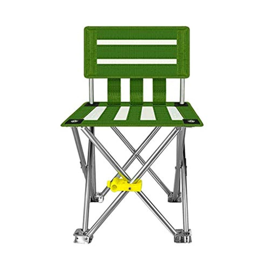 性別重くするペグキャンプチェアポータブルウルトラライト折りたたみ椅子釣り椅子アウトドアレジャー通気性のビーチチェアスポーツチェア (Color : Green, サイズ : L)