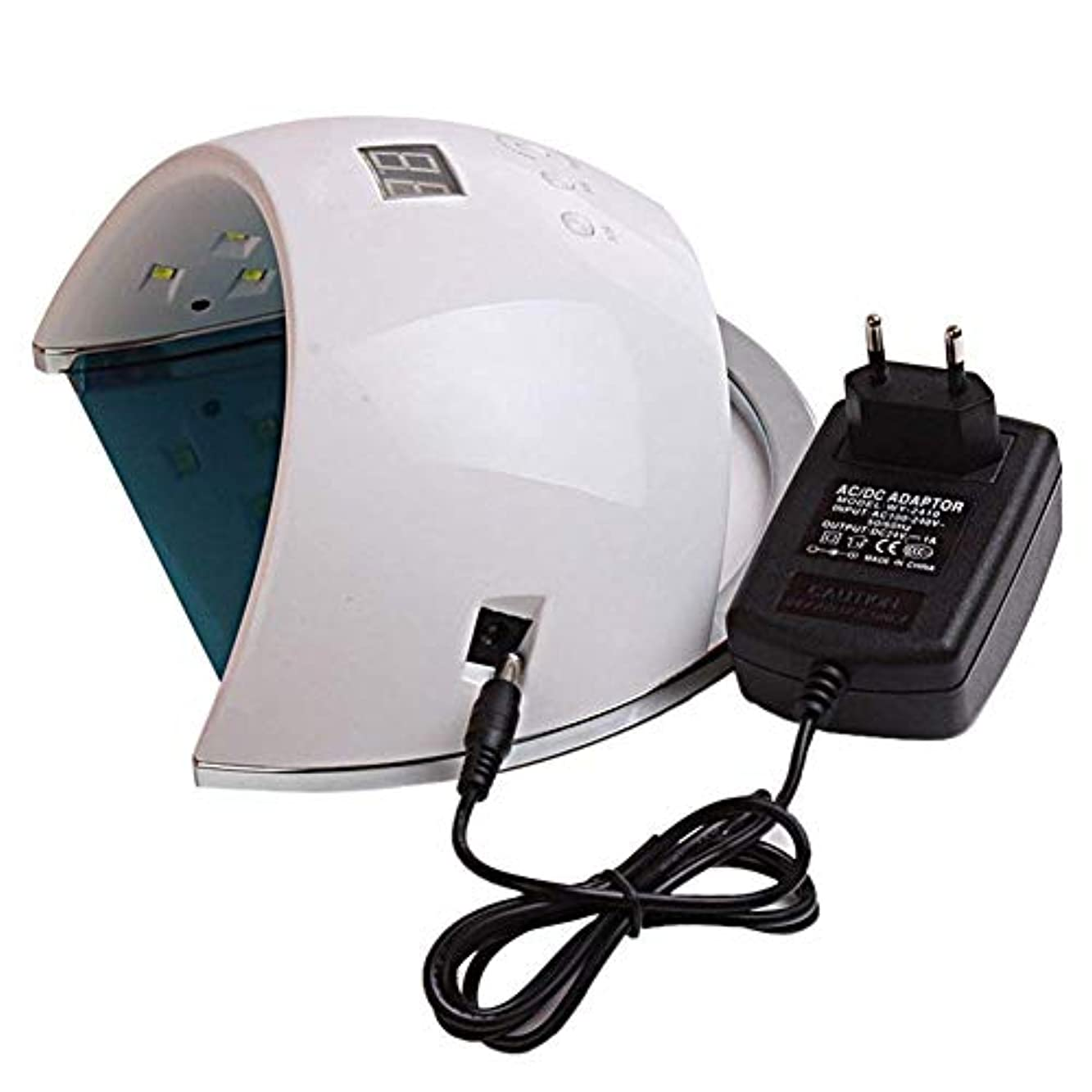 要旨しないキャラバンネイルドライヤーランプ用ネイル48W SUN6 UV LEDランプポータブル高品質ネイルドラムセンサーとLCD硬化UVネイルジェルネイルツールufランプ、画像としての色
