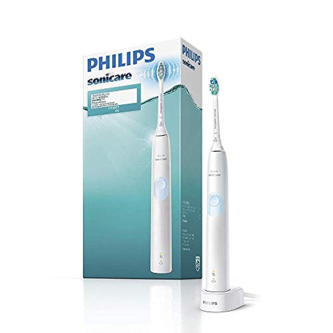 傾くスリット必要ない【Amazon.co.jp限定】フィリップス ソニッケアー プロテクトクリーン ホワイトライトブルー 電動歯ブラシ 強さ設定なし HX6819/05