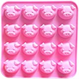 Bullidea 3D Pig Silicone Fondant Cake Decoration Mold Candy Chocolate Mould Handmade DIY Soap Mold Tool