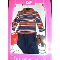 Ken Fashion Avenue Outfit - Striped Shirt, Slacks, Briefcase, Shoes. Barbie(バービー) ドール 人形 フィギュア(並行輸入)