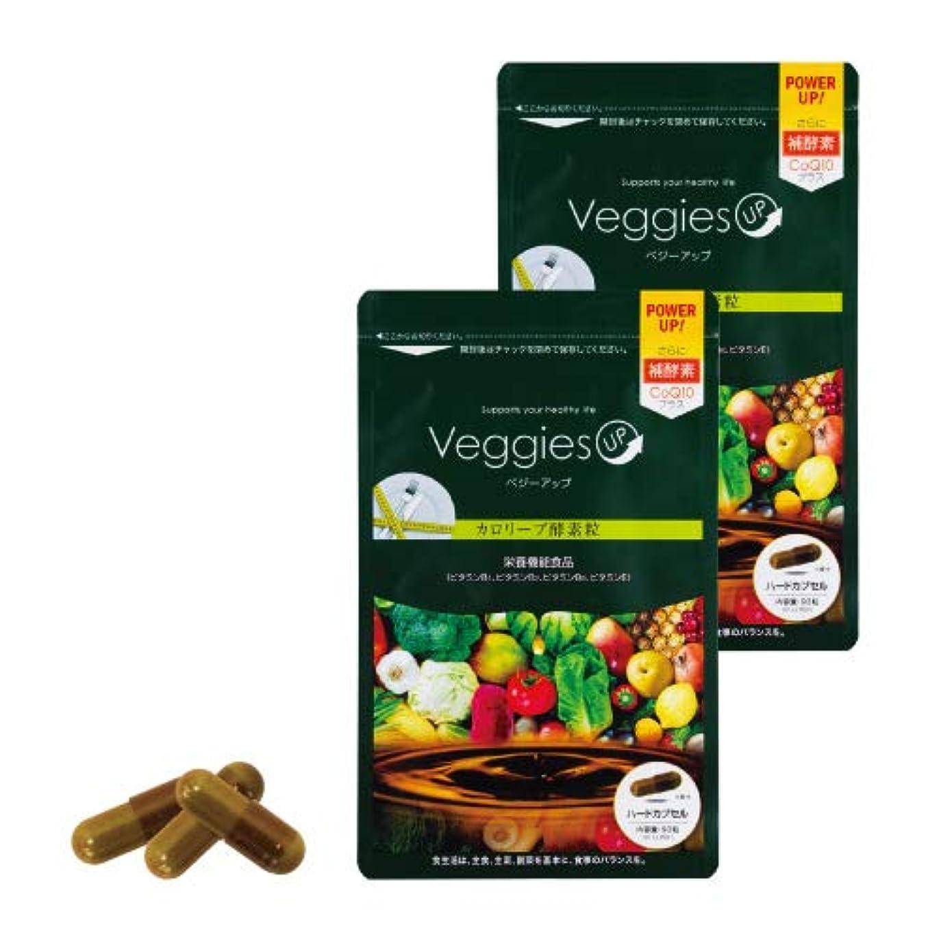 未払いうがい薬面積ベジーアップ酵素粒カロリーブ 93粒 2袋セット ダイエット 酵素サプリ 酵素ダイエット サラシア コエンザイムQ10 竹炭
