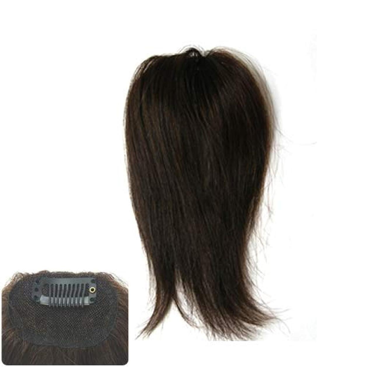 媒染剤常習者解任ファッション?トップウイッグ★人毛と耐熱形状ファイバーのデラックス仕様 Type11