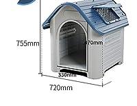 屋外ペットプラスチック犬小屋猫のごみ防水,クリスタルブルーL 4本セットを送る扉なし,50キロ以内