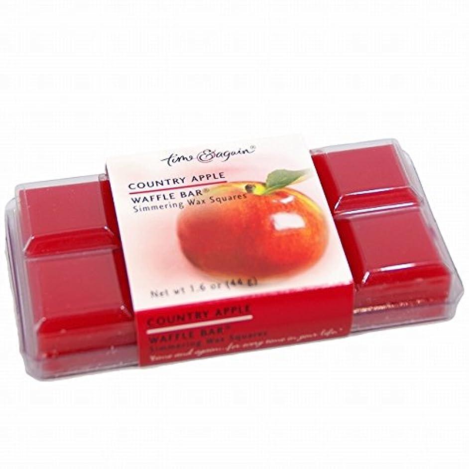 改善する発疹反動板チョコのような芯のないアロマキャンドル WAFFLE BAR (カントリーアップル)