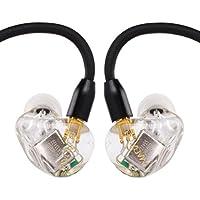 magaosi k5 イヤホン イヤモニ型イヤホン+Bluetoothケーブル ハイレゾ型 イヤホン・ヘッドホン 高音質 mmcx リケーブル イヤホン Yinyoo (クリア)