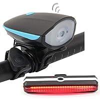 自転車ライト、led バッテリー自転車ライト明るい防水自転車ライト 3.7 v マウンテンバイクロードライトを充電 (3 つのモード),Speakerlight+taillight