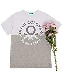 ベネトン キッズ(UNITED COLORS OF BENETTON) KIDSバイカラーロゴ半袖Tシャツ?カットソー