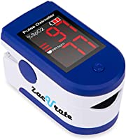 Zacurate Fingertip Pulse Oximeter Blood Oxygen Saturation Monitor with Batteries & Lanyard Included (Sapphire Blue)