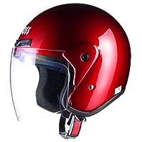リード工業(LEAD) CROSS CR-720 ジェットヘルメット キャンディーレッド FREE (頭囲 57cm~60cm未満)