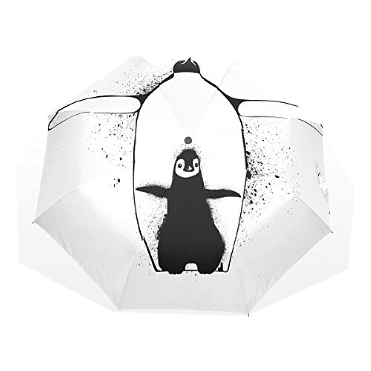 モック個人的に基礎AOMOKI 折りたたみ傘 折り畳み傘 日傘 手開 UVカットき 三つ折り 晴雨兼用 梅雨対策 耐強風 8本骨 男女兼用 ペンギン かわいい 親子