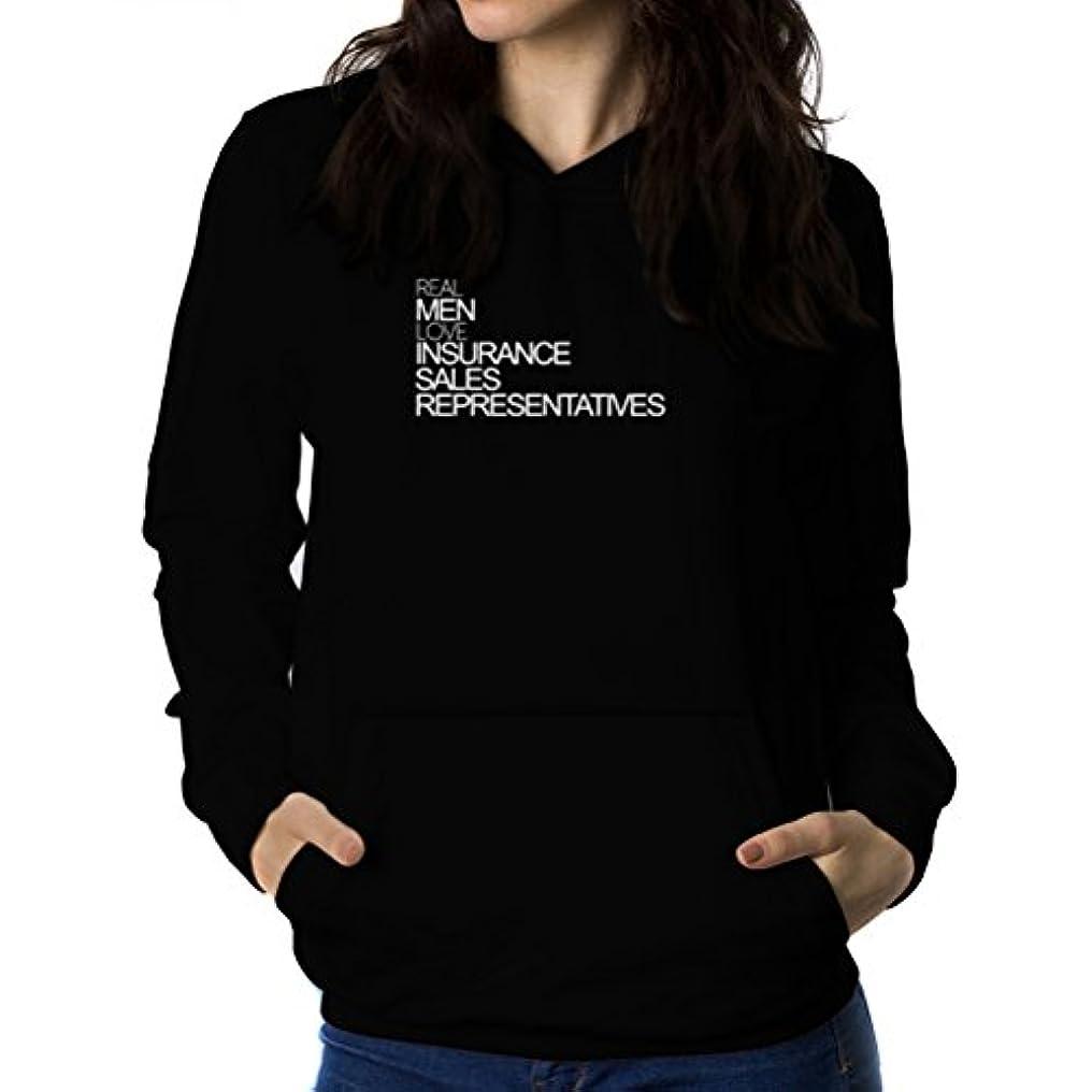 ハーネス囲まれたぬいぐるみReal men love Insurance Sales Representative 女性 フーディー