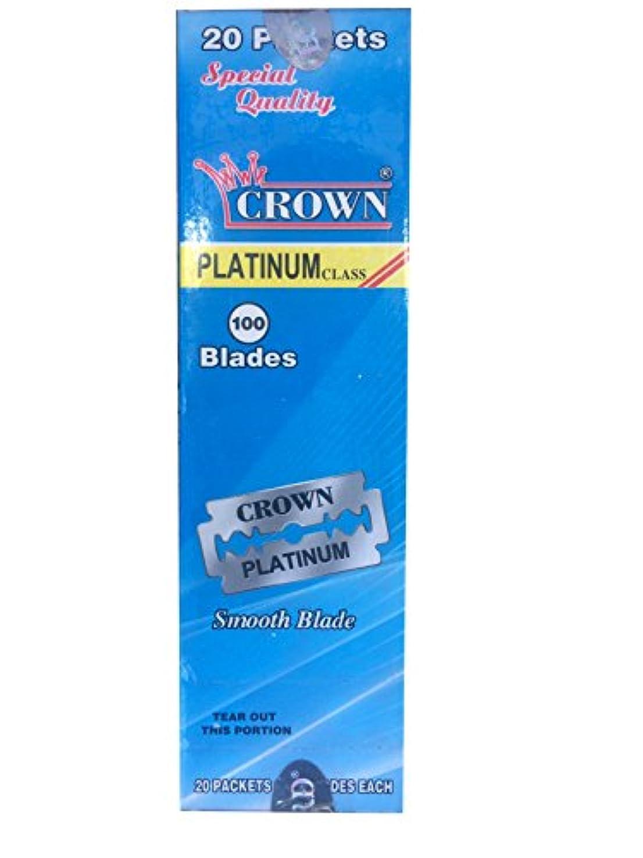 上かすかな文Crown Platinum 両刃替刃 100枚入り(5枚入り20 個セット)【並行輸入品】