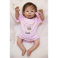 Pursue Baby LifelikeソフトビニールリアルなWeighted Poseableベビーガール人形、20インチベビー人形withおしゃぶり