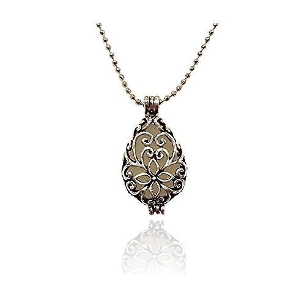著名な罰セッションSilver tone Teardrop Small Aromatherapy Necklace Essential Oil Diffuser Locket Pendant Jewelry w/reusable felt...