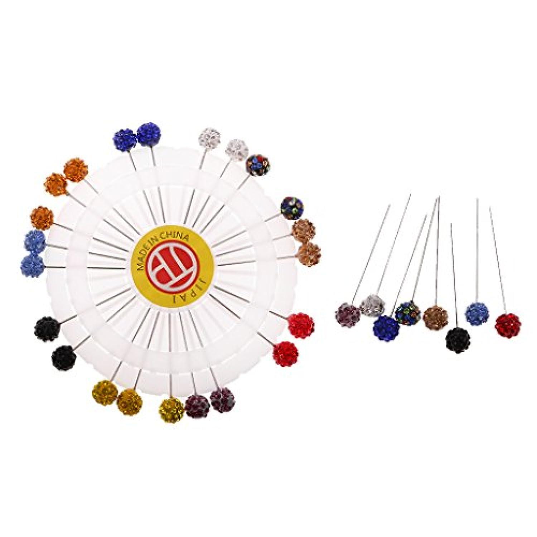 Hellery スカーフピン 縫製のピン スカーフ縫製 ブローチ 針ピン 多色 手芸品 アクセサリー 30個セット