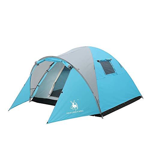 Preferred Innovation アウトドア テント 3~4人用 登山 キャンプ 前室あり 組立簡単 二層構造 通気 防雨・防風・防災 UVカット …