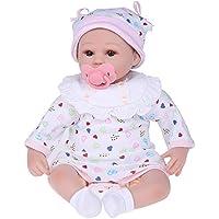 Decdeal ベビー人形 シリコーン 服付き 目が開く 実物40cm かわいい 贈り物 おもちゃ