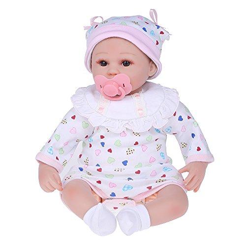 Decdeal ベビー人形 シリコーン 服付き 目が開く 実物40cm かわいい 贈り物 おもちゃ...
