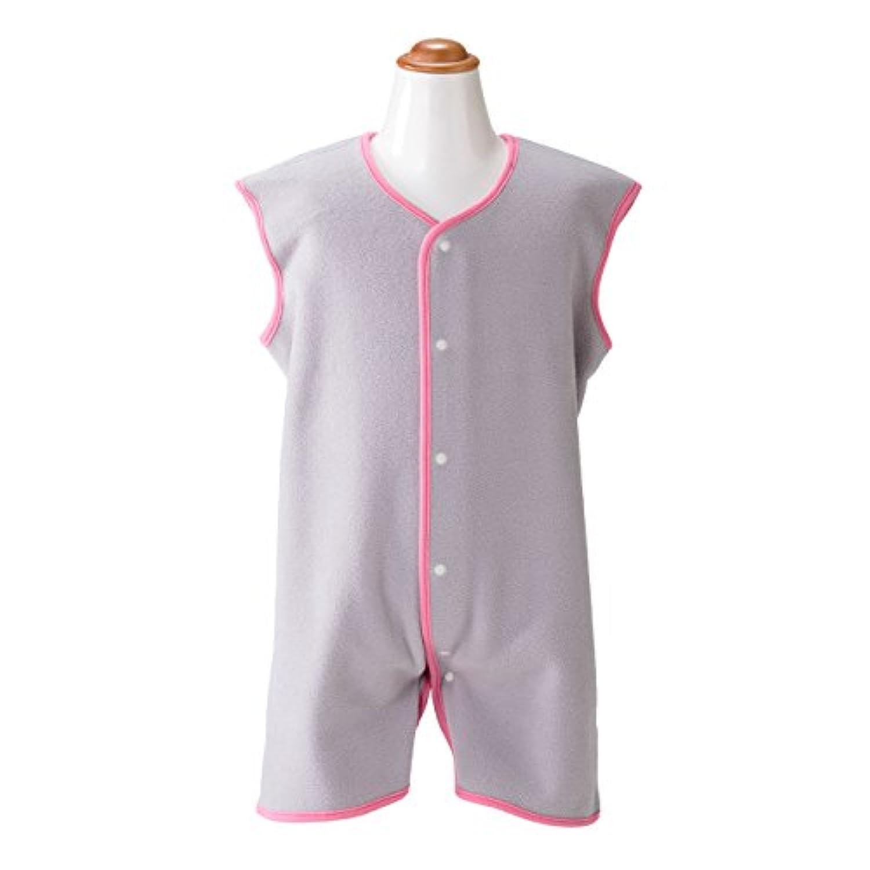 保温性抜群 マイクロフリース キッズスリーパー (80-100cm) グレー/ピンク
