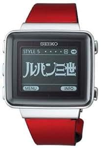 [セイコー]SEIKO 腕時計 SPIRIT SMART スピリットスマート EPDアクティブマトリクス ソーラー電波修正 レッドレザーバンド ルパン3世コラボレーションモデル 【数量限定】 SBPA005 メンズ