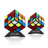 スピードキューブ CACUSN 2個セット(3×3、3×3) 令和進化版 回転スムーズ 競技用 立体パズル 世界基準配色 パズルスタンド付き