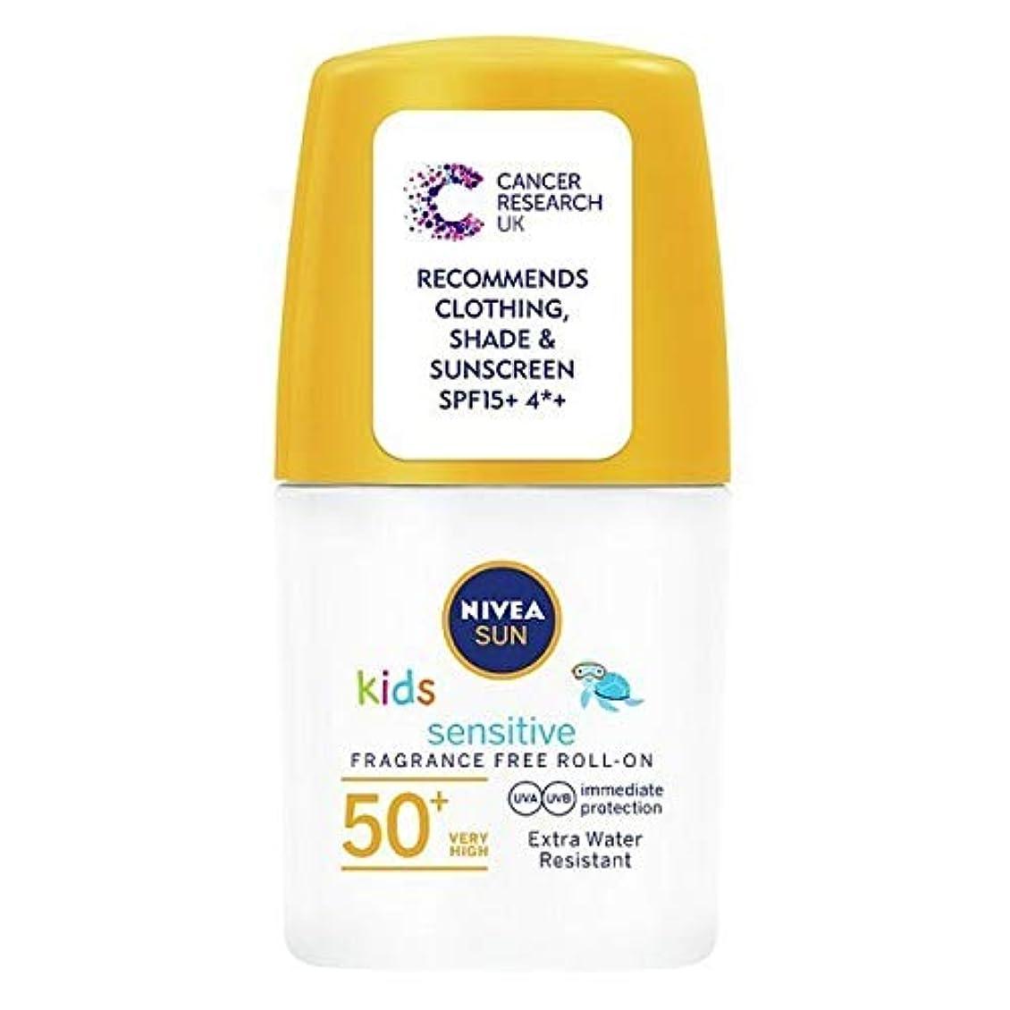 極端な歌う彫る[Nivea ] ニベアの太陽の子供たちは、ロールオンSpf 50+敏感肌の50ミリリットルを日焼け止めクリーム - NIVEA SUN Kids Suncream Roll-On SPF 50+ Sensitive Skin...