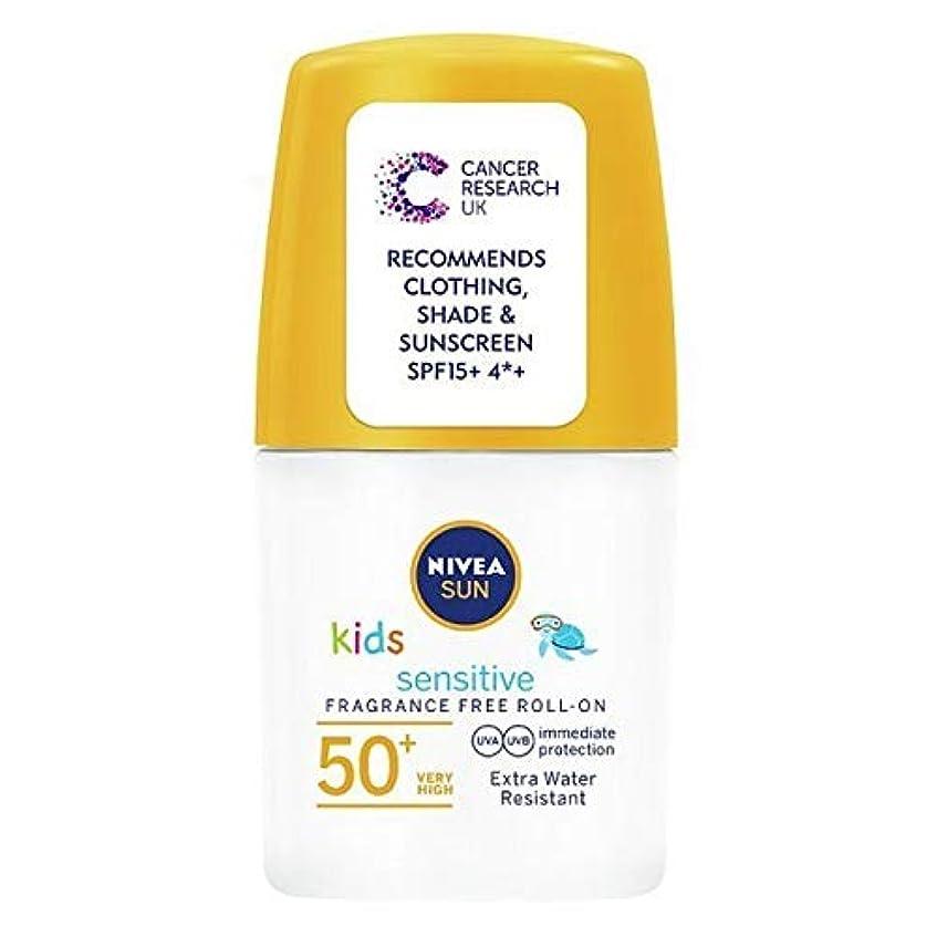 男やもめつなぐ殺人者[Nivea ] ニベアの太陽の子供たちは、ロールオンSpf 50+敏感肌の50ミリリットルを日焼け止めクリーム - NIVEA SUN Kids Suncream Roll-On SPF 50+ Sensitive Skin...