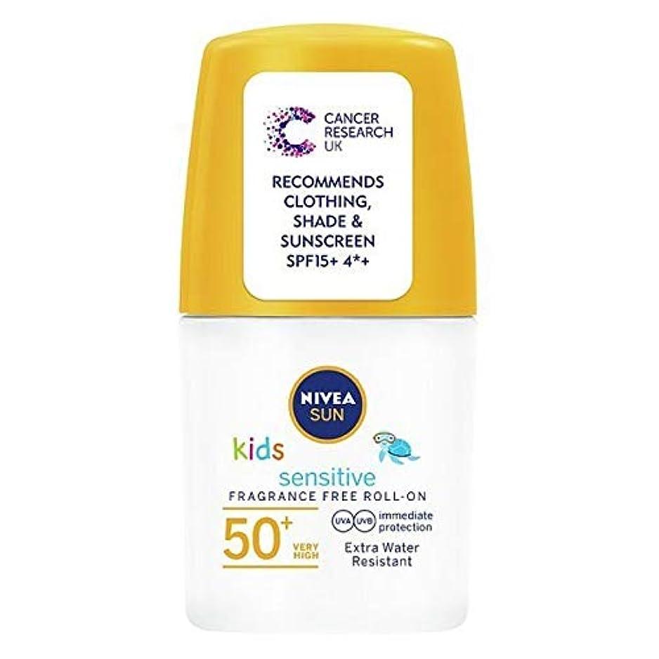 素晴らしき高架メーター[Nivea ] ニベアの太陽の子供たちは、ロールオンSpf 50+敏感肌の50ミリリットルを日焼け止めクリーム - NIVEA SUN Kids Suncream Roll-On SPF 50+ Sensitive Skin...